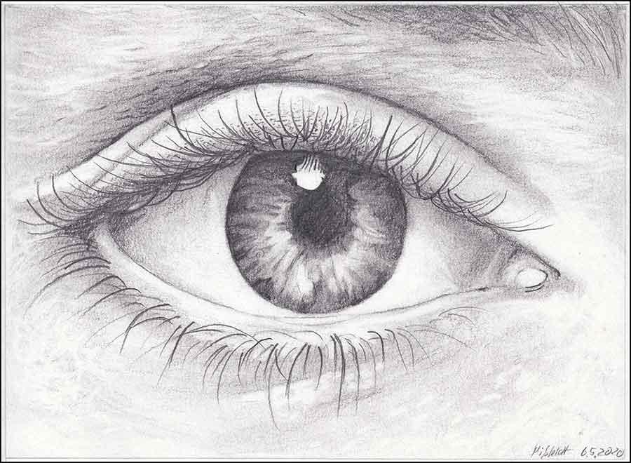 Zeichnung (Auge): mit Linien Flächen erzeugen