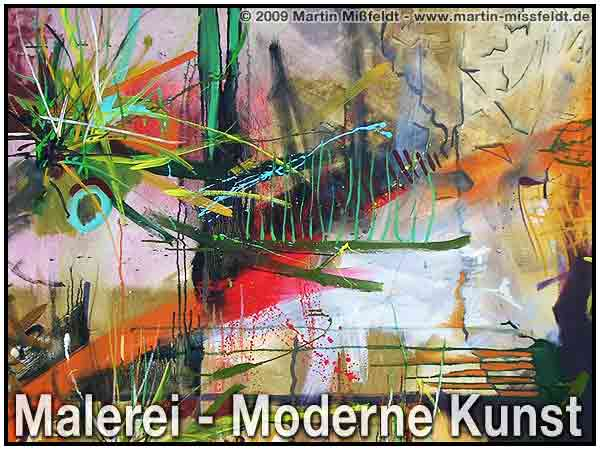 Kunstmalerei - moderne Kunst (max. Komprimierung)