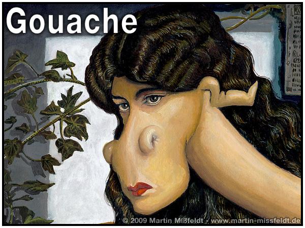 gouache bild malen tutorial gouachemalerei