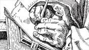 Die schreibende Hand