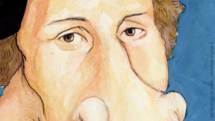 Kopf des Reformators Martin Luther
