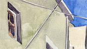 Fenster und Kabel