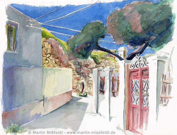 Idyllischer Weg auf Naxos