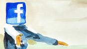 Aquarell facebook Icon