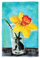 Blumenaquarell mit gelber Narzisse