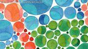Farbige Punkte, Malerei, Detail aus La Danse