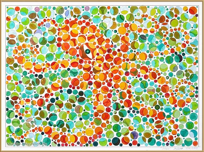 Oktopus (Aquarellmalerei, Farbsehtest)