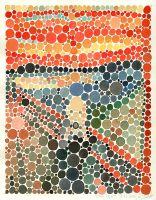 Aquarell: Der Schrei nach Edvard Munch