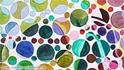 Aquarellbild, Kunst-Sehtest (Detail 1)
