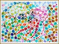 Der Qualle Tod (Aquarellbild, Kunst-Sehtest)