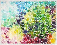 Coronavirus Sars Cov-2 (Farbsehtest-Aquarell)