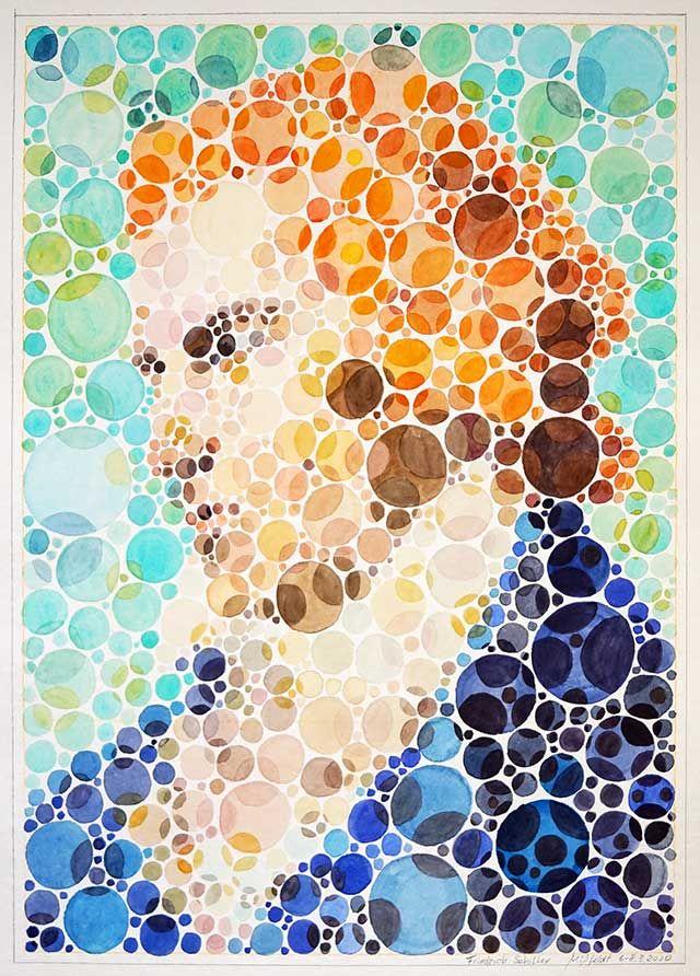 Friedrich Schiller Portrait (Farbsehtest)