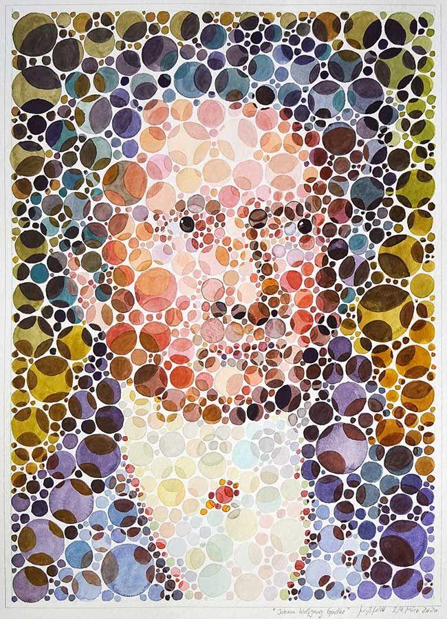 Johann Wolfgang von Goethe Portrait (Aquarell)