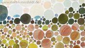 Landschaft Heuschober Aquarell Farbsehtest (Detail 4)