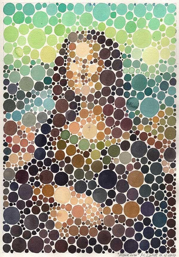 Neo-Pointilismus: Mona Lisa