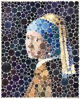 Portrait des Mädchens mit Perlenohrring (nach Vermeer)