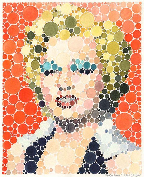 Portrait Marilyn Monroe (Neo-Pointilismus)