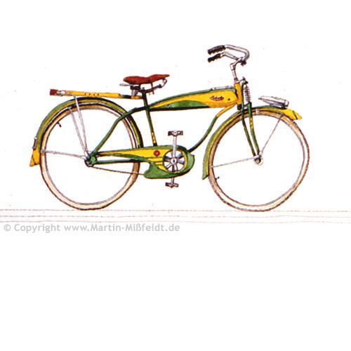 Denkmal für ein Fahrrad