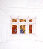10: Die Sinflut (draussen vor dem Fenster) nach Uccello
