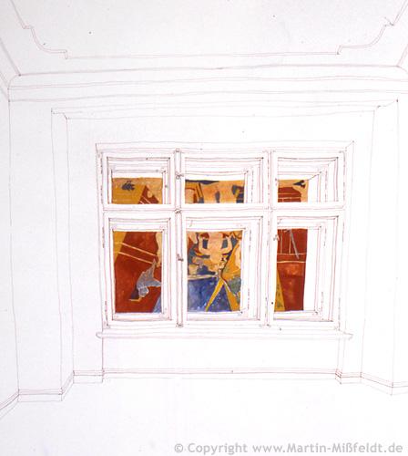 Die Sinflut (draussen vor dem Fenster) nach Uccello