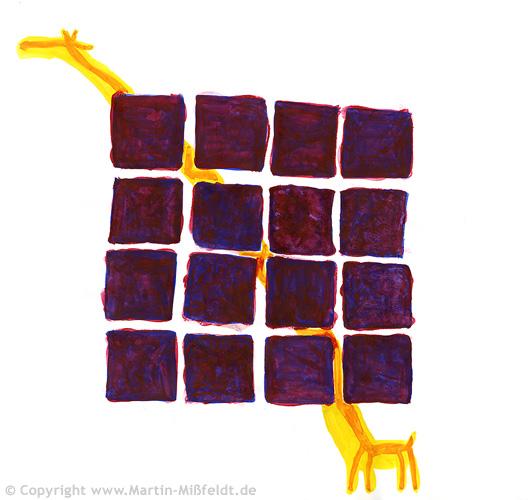 Hinter Gittern - Giraffe im Knast