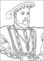 17: Ausmalbild: König Heinrich IIX.