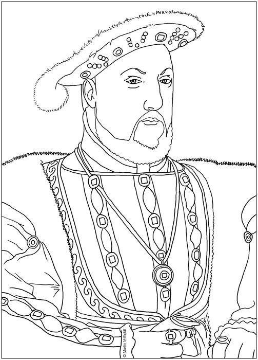 Ausmalbild: König Heinrich IIX.