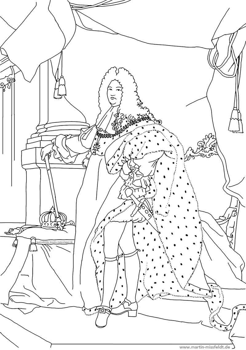 Ludwig 14. (Ausmalbild Kunst)