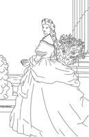 17: Ausmalbild: Prinzessin Sissi