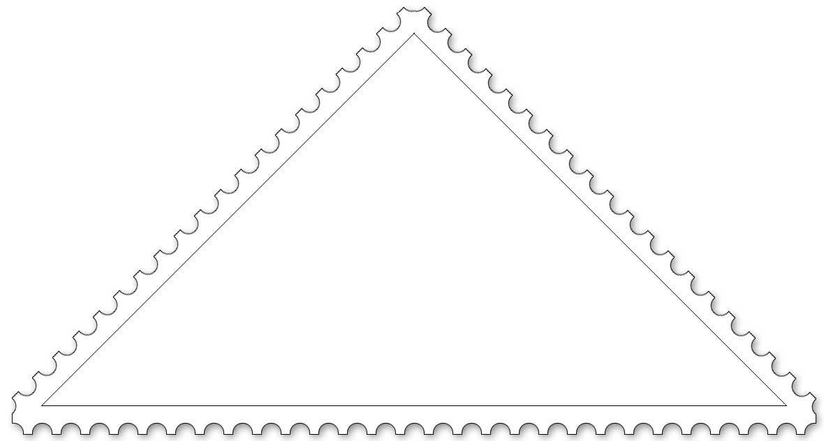 Malvorlage Briefmarke Dreieck