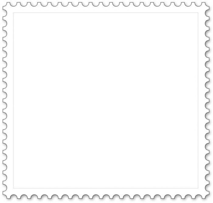 Malvorlage Briefmarke Quadrat