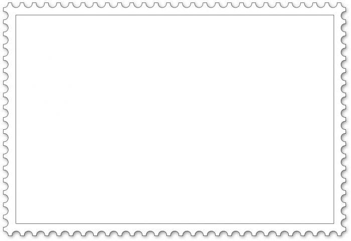 Malvorlage Briefmarke