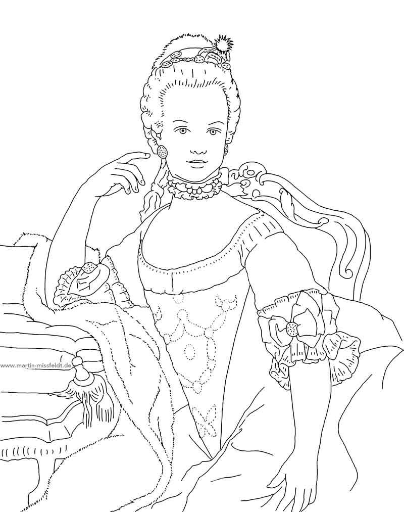 Marie Antoinette (Ausmalbild)