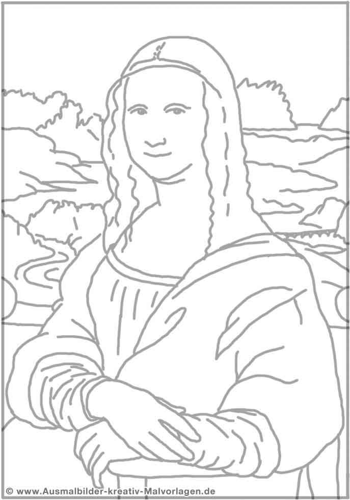 Mona Lisa (Malvorlage)