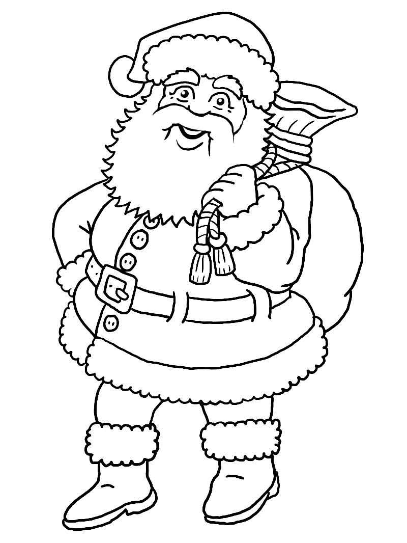 Weihnachtsmann (Malvorlage)