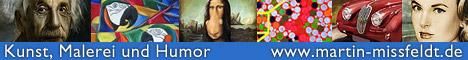 Die Homepage des Berliner Künstlers Martin Mißfeldt zeigt Ölbilder, Aquarelle, Zeichnungen und Digitale Malerei.