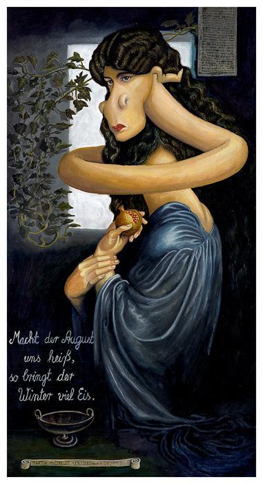Proserpina nach Dante Gabriel Rossetti