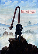 Wanderer über Nebelmeer - Caspar David Friedrich