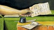 Die Hand mit dem Zettel (letzte Zeilen)