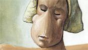 Die verträumte Dienstmagd mit Haube und von Jan Vermeer