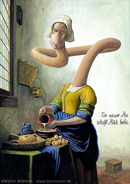 Dienstmagd mit Milchkanne nach Jan Vermeer