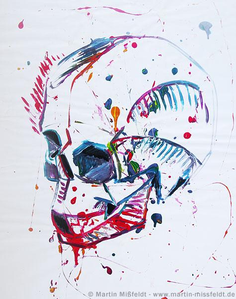 Action-painting Totenkopf