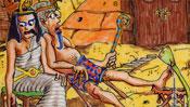 Pharao mit Königin