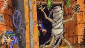Mumie reißt aus Pyrimade aus