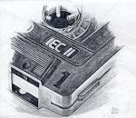 Bleistift Zeichnung: Zeichnung einer Kassette