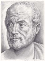 Aristoteles Portrait Zeichnung