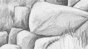 Bleistiftzeichnung Hünengrab