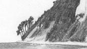 Bleistiftzeichnung Küste