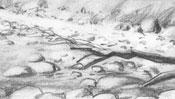 Bleistiftzeichnung Strand