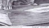 Bleistiftzeichnung Schatten (Detail 5)